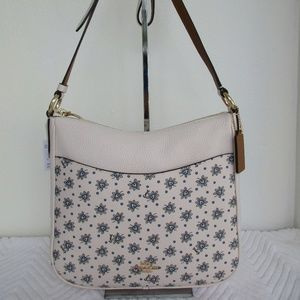 Coach Chaise Crossbody 67401 Leather, Chalk color